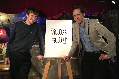 David M. Green & Dean Watson after the final Fan Club, 17 April 2016