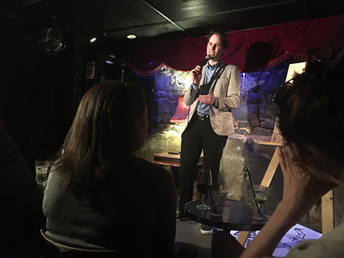 "David M. Green performing ""Fan Club"" at MICF, 27 March 2016"